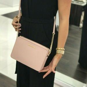 Michael Kors Jet Set EW LG Leather Crossbody Bag